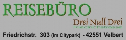 Reisebüro Drei Null Drei Logo