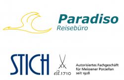 Reisebüro Paradiso & Porzellan Fachgeschäft STICH Logo